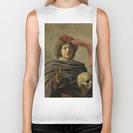 "Frans Hals ""Young man with a skull"" Biker Tank"
