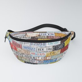 State License Plate Collage Fanny Pack