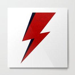 Bowie David Lighting Metal Print