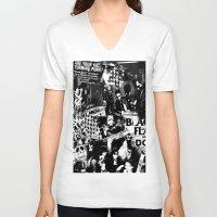 punk V-neck T-shirts featuring Punk by HEADBANGPARTY