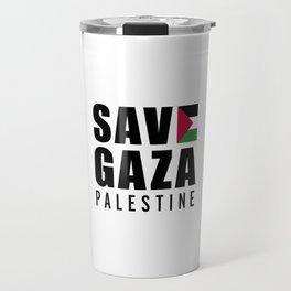 Save Gaza Quote Travel Mug