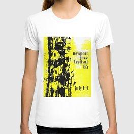 1965 Newport Jazz Festival Vintage Advertisement Poster Newport, Rhode Island T-shirt