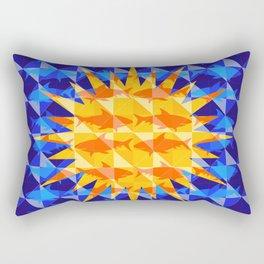 Sunsharks On Blue. Rectangular Pillow