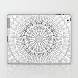 Gray White Mandala Laptop & iPad Skin