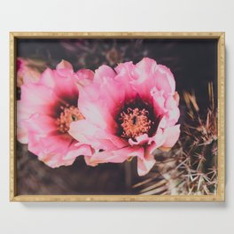 Faded Desert Blooms Serving Tray