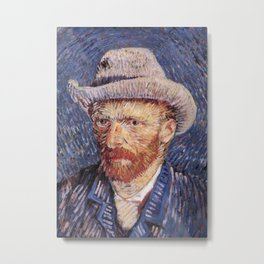 Self Portrait with Felt Hat Metal Print