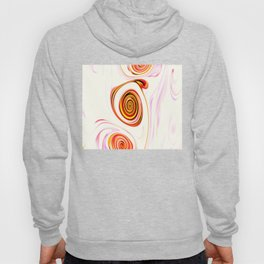 Waves and swirls, abstract, decorative patterns Hoody
