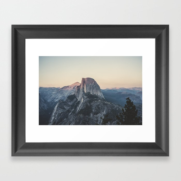 Shop Framed Art Print Half Dome Winter: Half Dome Framed Art Print By Hraunphotography