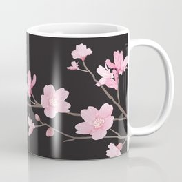 Cherry Blossom - Black Coffee Mug
