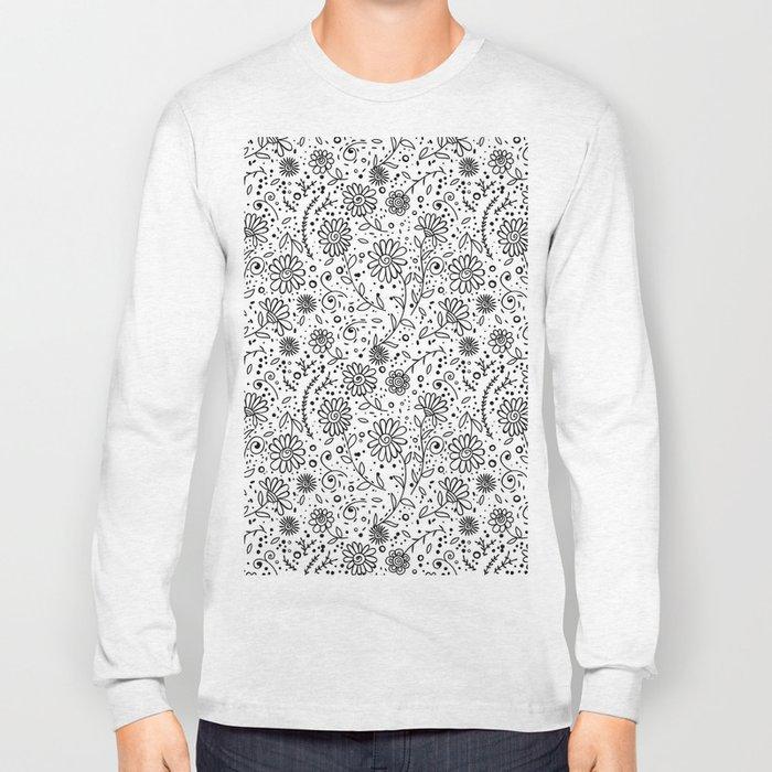 Doodle floral pattern Long Sleeve T-shirt