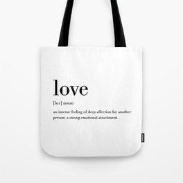 Love Definition Tote Bag