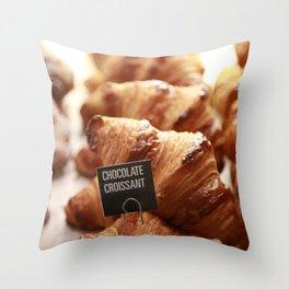 Chocolate Croissants - Portland, Oregon Throw Pillow