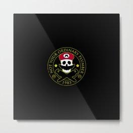 Skull Mario Metal Print
