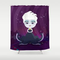 ursula Shower Curtains featuring Ursula  by Loud & Quiet