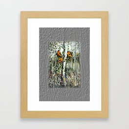 Gold Finches Framed Art Print