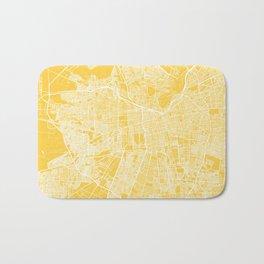 Santiago map yellow Bath Mat