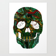 Skull No.7 Motherboard Art Print