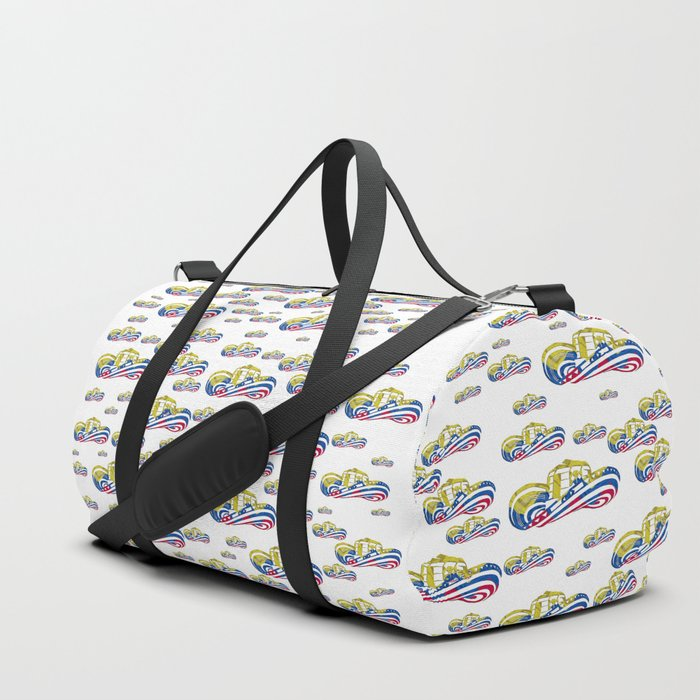 Colombian Sombrero Vueltiao in Colombian Flag Colors Duffle Bag