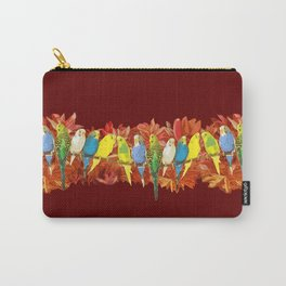 Colorful budgies pattern Carry-All Pouch