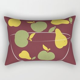 Apples and Peers red Rectangular Pillow
