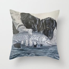 Nice Catch Throw Pillow