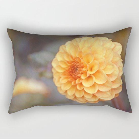 Shiny Yellow Sweet Pixie Dahlia Rectangular Pillow