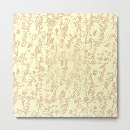 pastel liquid pattern,beige Metal Print