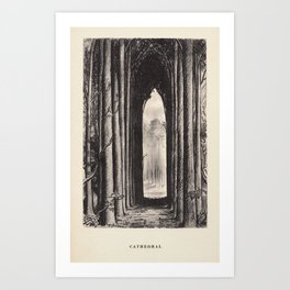 """Cathedral"" from ""Trees at Night"" by Art Young Art Print"