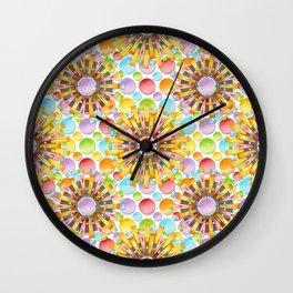 Birthday Party Polka Dots Wall Clock