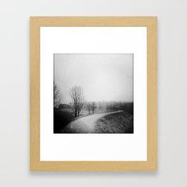 Landscape stories_Path Framed Art Print