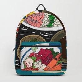 Japanese Seafood Chirashi Platter Backpack