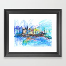 Bridge, Copenhagen Framed Art Print