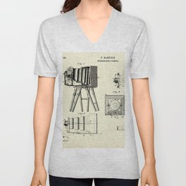 Photographic Camera-1885 Unisex V-Neck