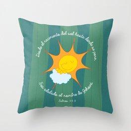 Salmo 113:3 Throw Pillow