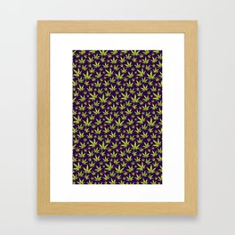 OG Kush Pattern Framed Art Print