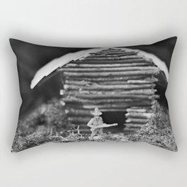 Cowboy and Cabin Rectangular Pillow