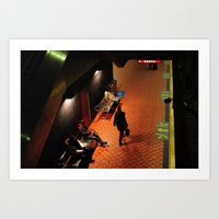 Trainspotting at Lionel Groulx Art Print