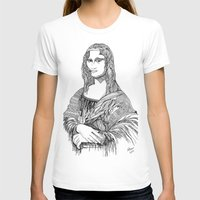 mona lisa T-shirts featuring Mona Lisa by April Gann