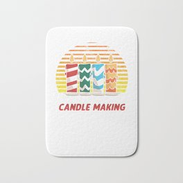 Chandler Wax Wick Eat Sleep Candle Making Repeat Candlemaking Gift Bath Mat