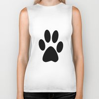 furry Biker Tanks featuring Furry Paw by Red Tree Arts