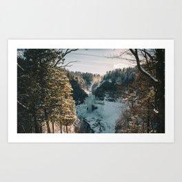 Taughannock Falls - New York, USA Art Print
