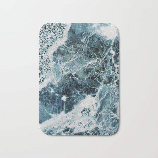 Blue Sea Marble Bath Mat