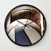 basketball Wall Clocks featuring Basketball by SShaw Photographic