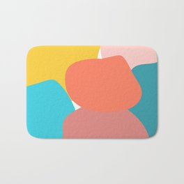 Abstract pastel collors Bath Mat