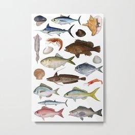 Fish Poster 01 Metal Print