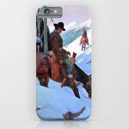 Going In, The Bear Hunters - William Herbert Dunton iPhone Case