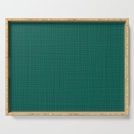 Green and Black Grid - Disorderly Order Serving Tray