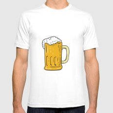 Beer Mug Drawing Mens Fitted Tee X-LARGE White