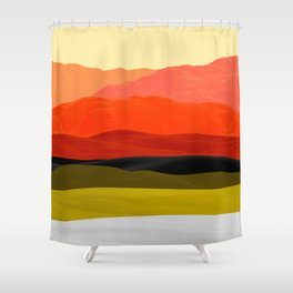 Mountains in Gradient Shower Curtain