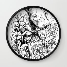 Color-Me Canine: Pitbull Wall Clock